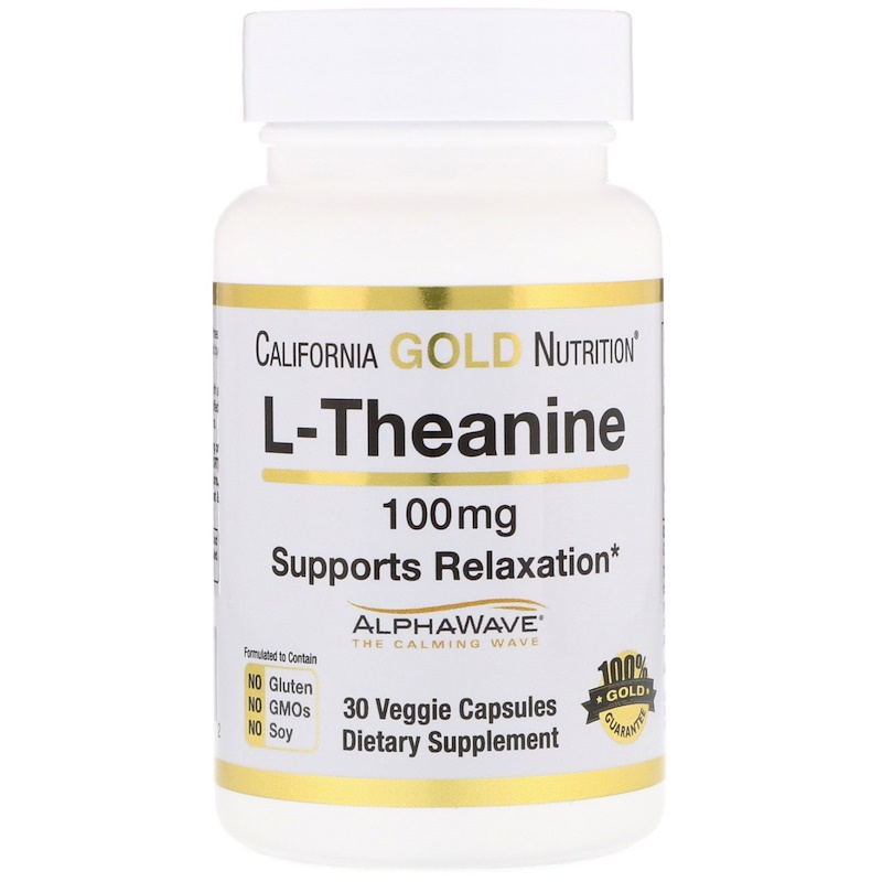 California Gold Nutrition L-theanine 100 мг 30 вег. капсул