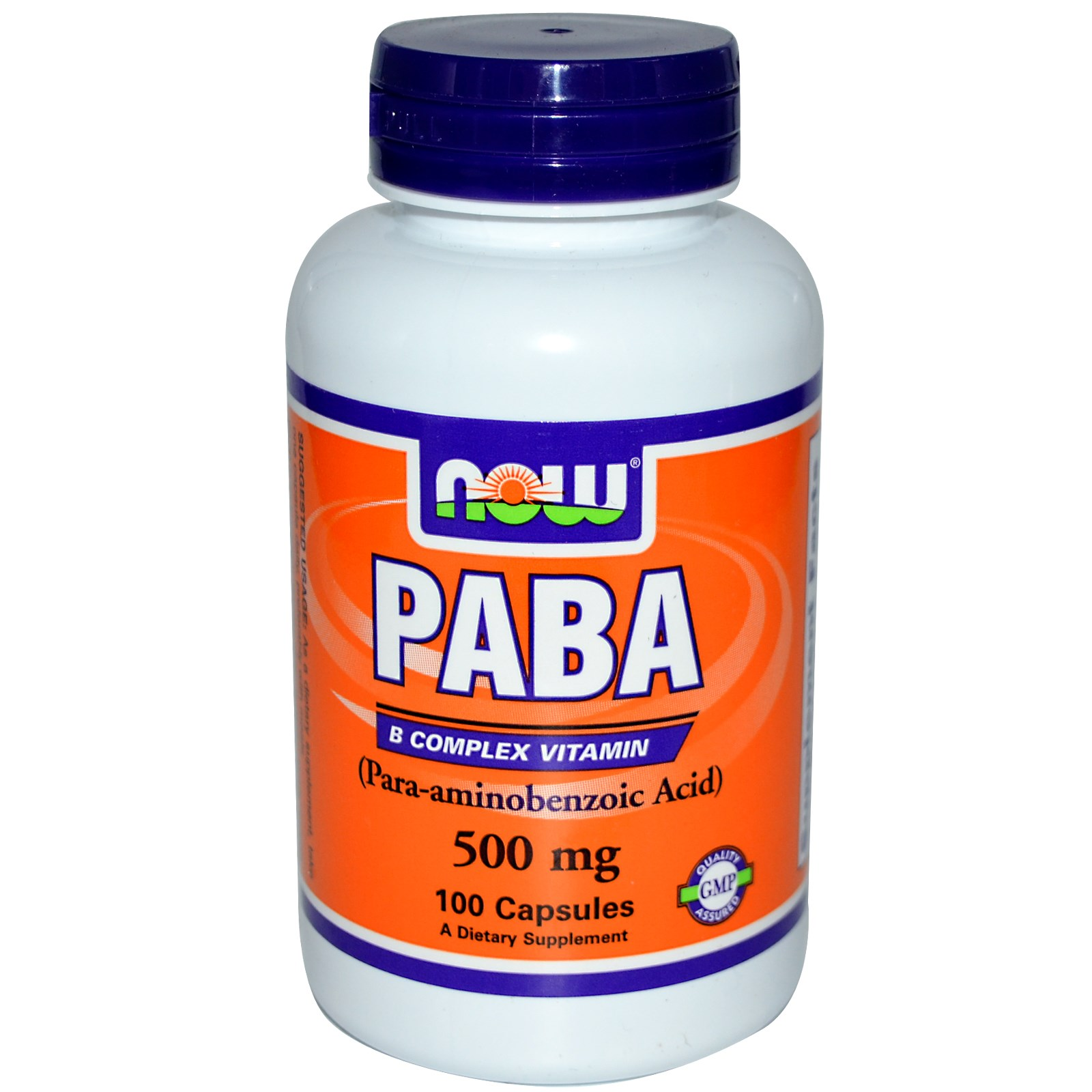 NOW Foods PABA 100 капс. (500мг.)