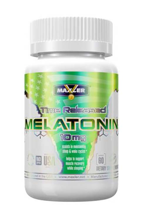 Maxler Melatonin Time Released 60 таб. (10мг.)