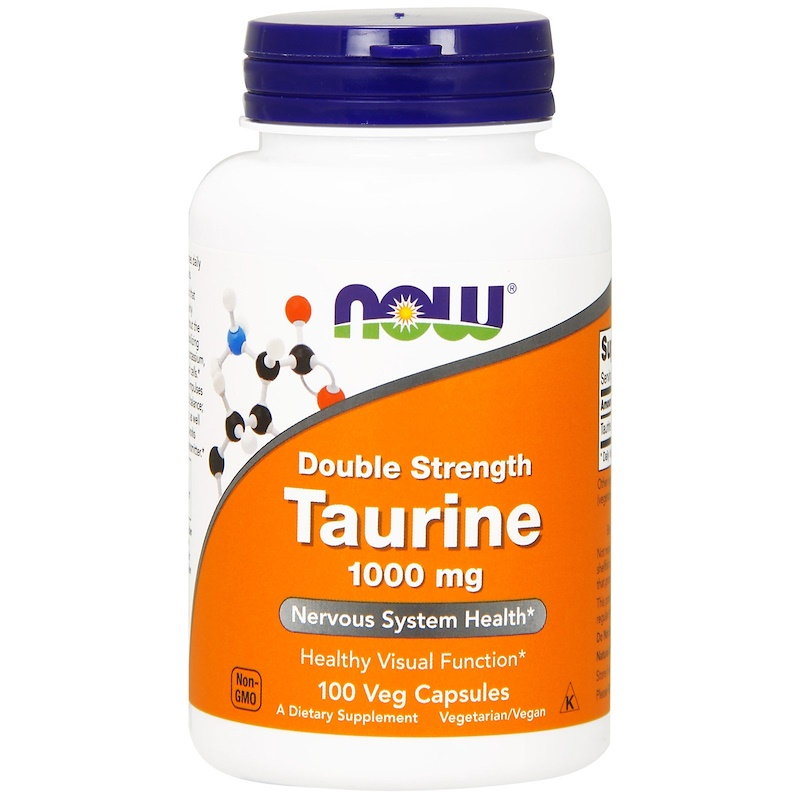 NOW Taurine 1000 мг. 100 вег. капсул