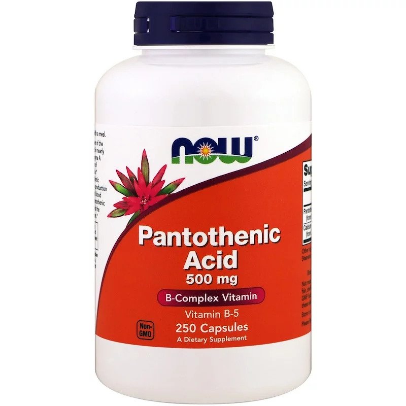 Now Foods Pantothenic Acid 500 мг. 250 вег. капсул.