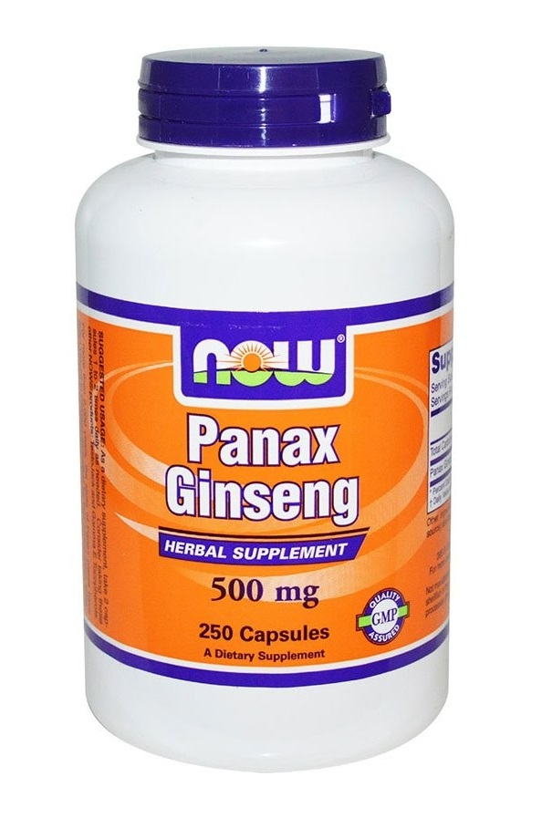Now Foods Panax Ginseng 250 капс. по 500мг.