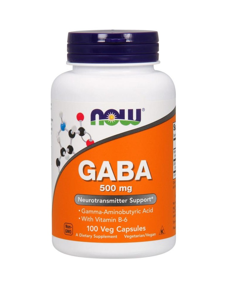 Now Foods GABA 500 мг 100 капсул