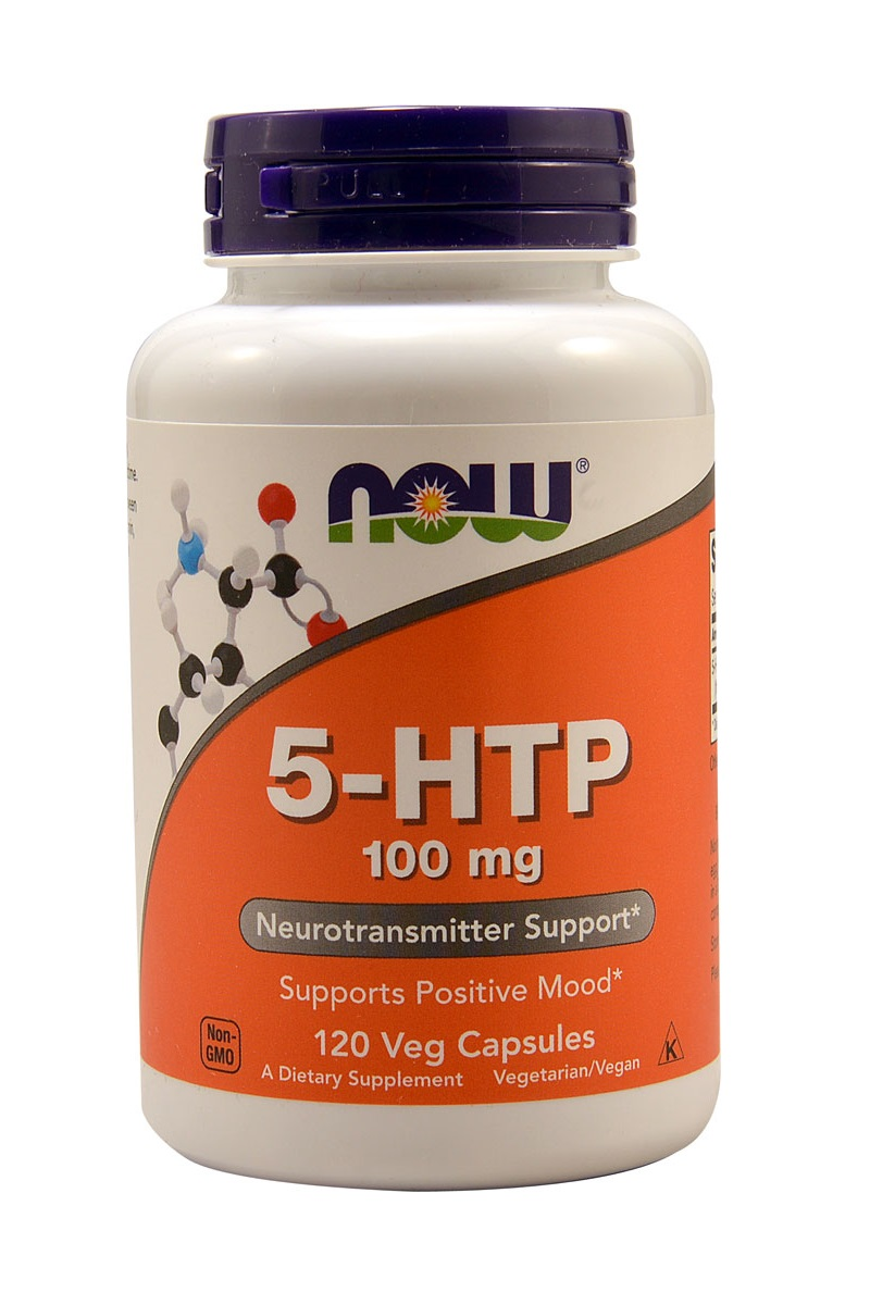 NOW 5-HTP 120 вег. капсул по 100 мг.