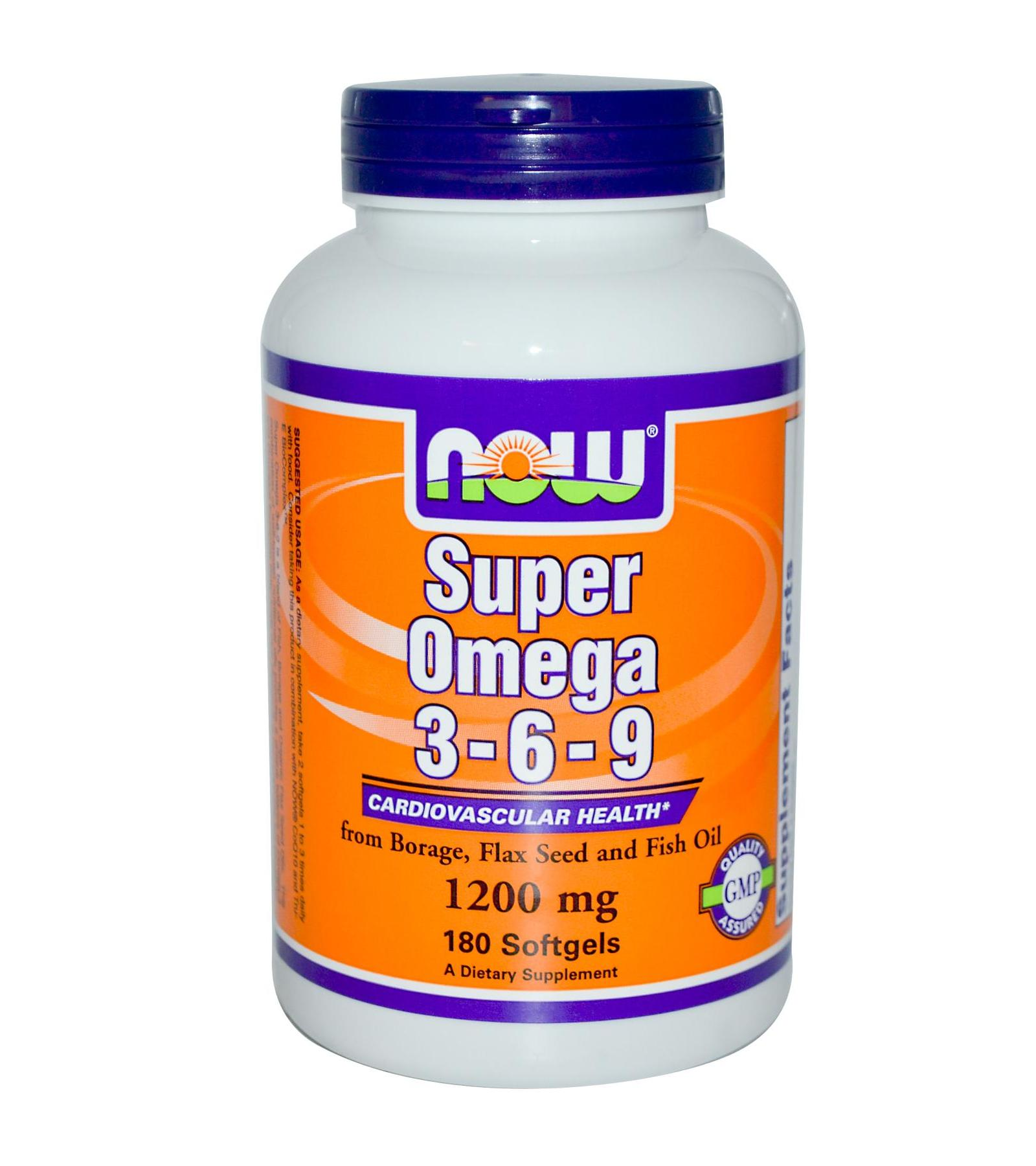 NOW Foods Super Omega 3-6-9 1200 мг 90 капсул
