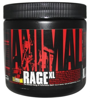 Universal Nutrition Animal Rages XL 146 гр. лимон