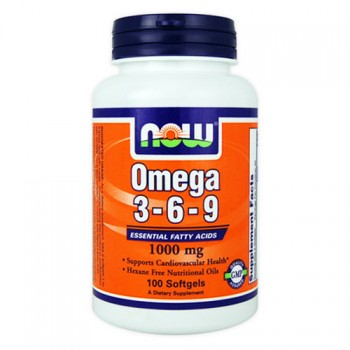 NOW Foods Omega-3-6-9 100 капсул по 1000 мг