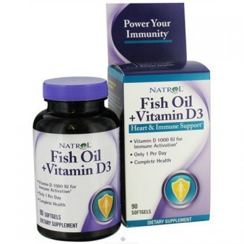 Natrol Fish Oil & Vitamin D3 90 капс.