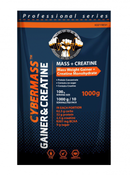 Cybermass Gainer Mass + Creatine 1000 гр.