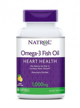 Natrol Omega-3 Fish Oil 1000 мг. 90 гелевых капсул