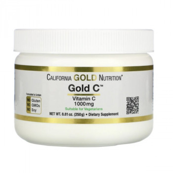 California Gold Nutrition Gold C Powder витамин C 250 грамм