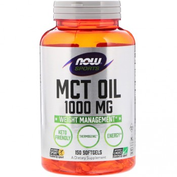 NOW Foods MCT Oil 1000 мг. 150 капсул