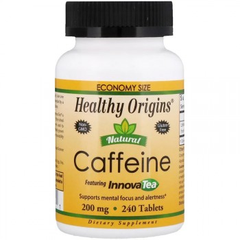 Healthy Origins Natural Caffeine 240 таблеток по 200 мг.