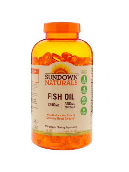 Sundown Naturals Fish Oil 1200 mg 300 капсул