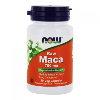 NOW Foods Raw Maca Concentrate 30 капс. по 750 мг.