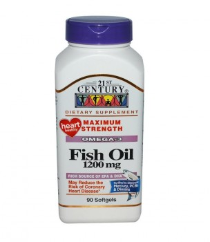 21st Century Fish Oil 1200 мг, 90 капсул