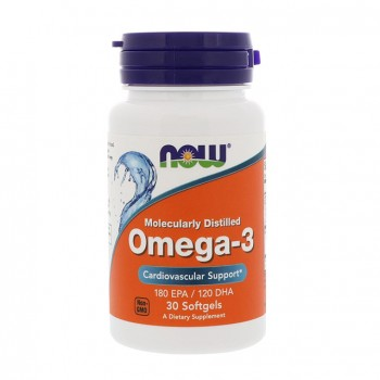 NOW Foods Omega-3 30 капсул по 1000 мг