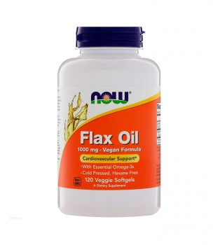 Now Foods Organic Flax Oil 1000mg Vegan Formula 120 капсул