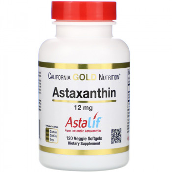 California Gold Nutrition Astaxanthin 12 мг 120 вег. капсул (астаксантин)