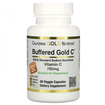 California Gold Nutrition Buffered Gold C 750 мг 60 вег. капсул
