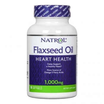 NATROL Flax Seed Oil 1000мг. 90 гелевых капсул