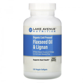 Lake Avenue Nutrition Flaxseed Oil & Lignan 120 вег. капс.