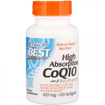 Doctor's Best CoQ10 with BioPerine 100мг 120 капсул
