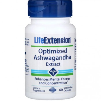 LifeExtension Optimized Ashwagandha Extract 60 вег. капс.