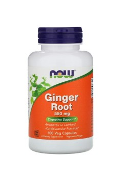 Now Foods Ginger Root 550 мг 100 веганских капсул