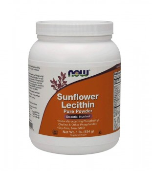 Now Foods Sunflower Lecithin pure powder Лецитин 454 гр. порошок