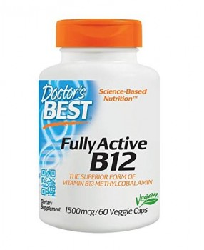 Doctor's Best Fully Active B12 methylcobalamin 1500 мкг 60 вег. капс.