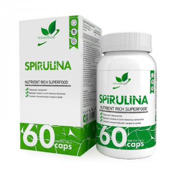 Natural Supp Spirulina 750 мг 60 капсул