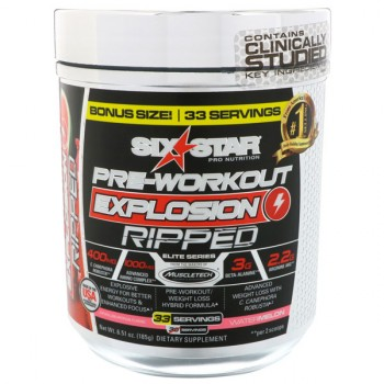 Muscletech Six Star Pre-Workout Explosion Ripped арбуз 185 гр. (30 порций)