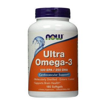 Now Foods Ultra Omega-3 180 капсул по 500EPA и 250DHA